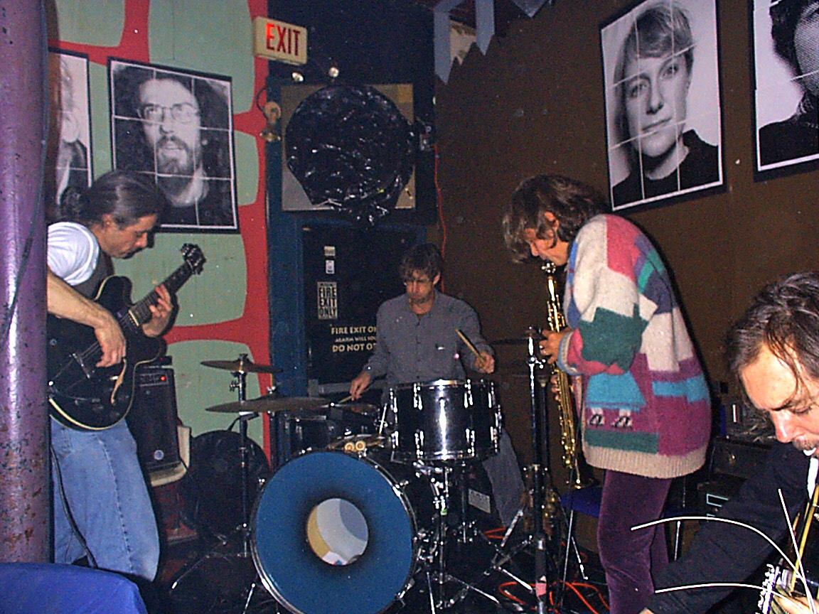Margaret Explosion live at the Bug Jar 1998. Jack Schaefer - guitar, Paul Dodd - drums, Peggi Fournier - sax, Pete LaBonne - bass.