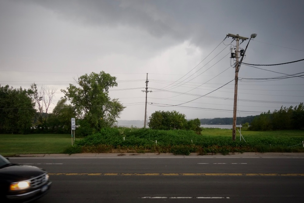 Irondequoit Bay from front porch of MacGregors on Empire Boulevard in Rochester, New York