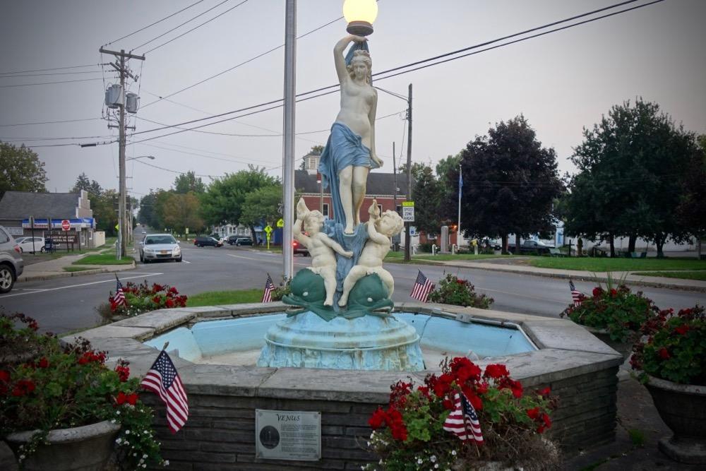 Venus statue in Wolcott New York