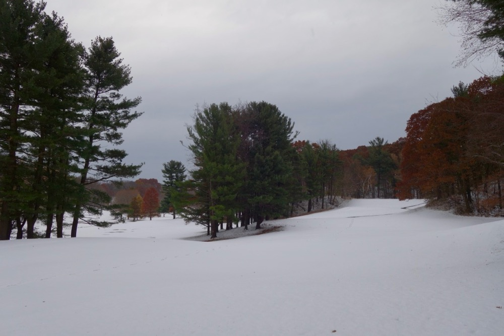 Durand Eastman Park in first snow of 2017
