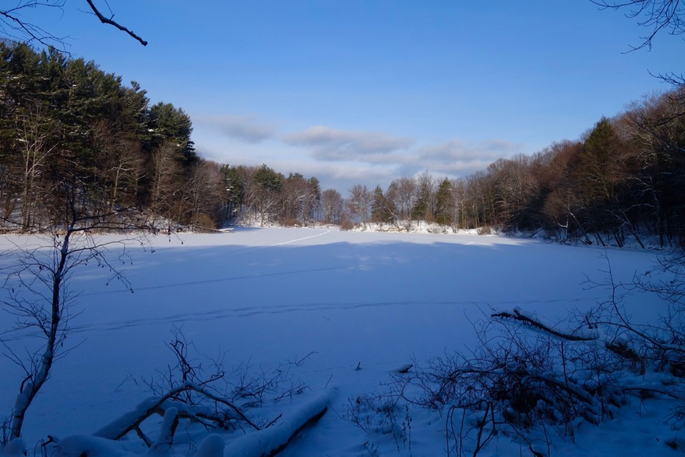 Looking across Eastman Lake out to Lake Ontario Winter