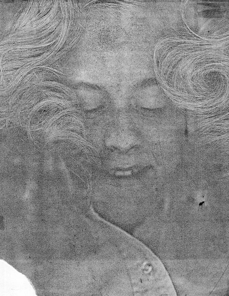 Kim's Xerox machine self portrait
