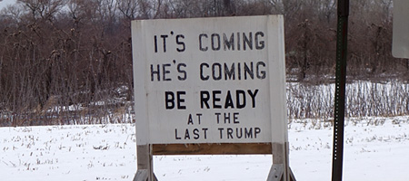 Sign on side of the road in Wolcott, New York