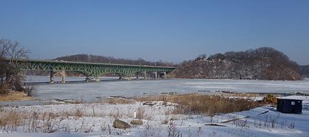 Bay bridge in February, Rochester, New York