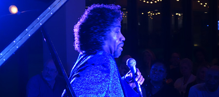 Johnny O'Neal at the Penthouse in downtown Rochester