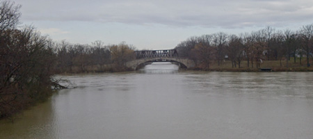 Intersection of the Erie Canal and the Genesee River
