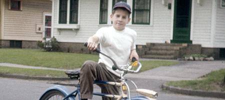 Me on my bike at 68 Brookfield Road in 1960
