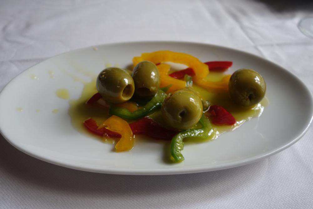 Olives at El Barril in Barrio Las Letras, Madrid
