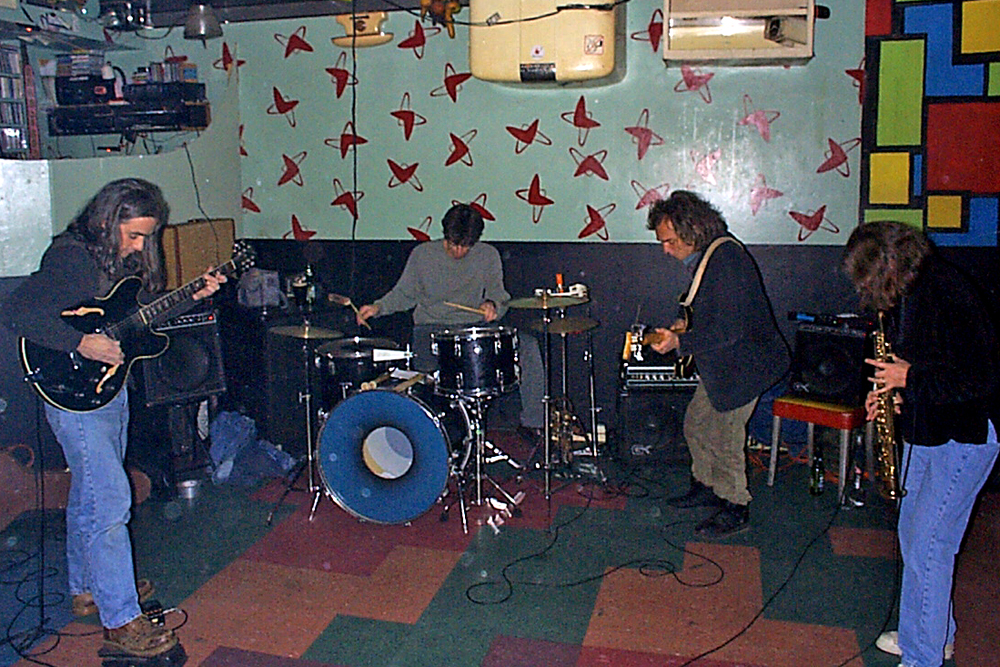 Margaret Explosion playing at the Bug Jar in 1998