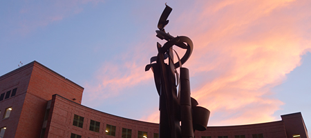 Albert Paley sculpture in front of old B&L Headquarters, Rochester, New York