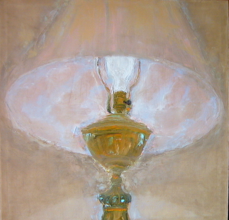"Janet Williams oil painting ""Lamp Left On All Night"" from about 2008"