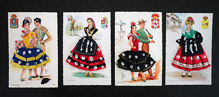 Spanish postcards from the 1970s., a gift from the O'Hara/Sullivan branch of the family.