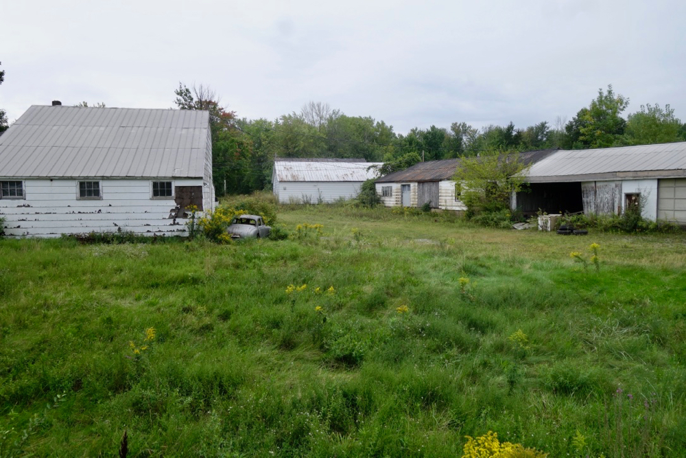 Old lumber yard on Holt Road in Webster, New York