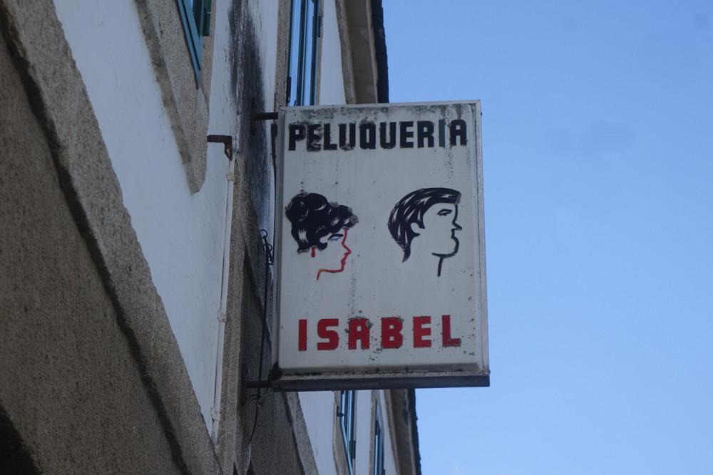 Hairdressers in Portomarin, Espana