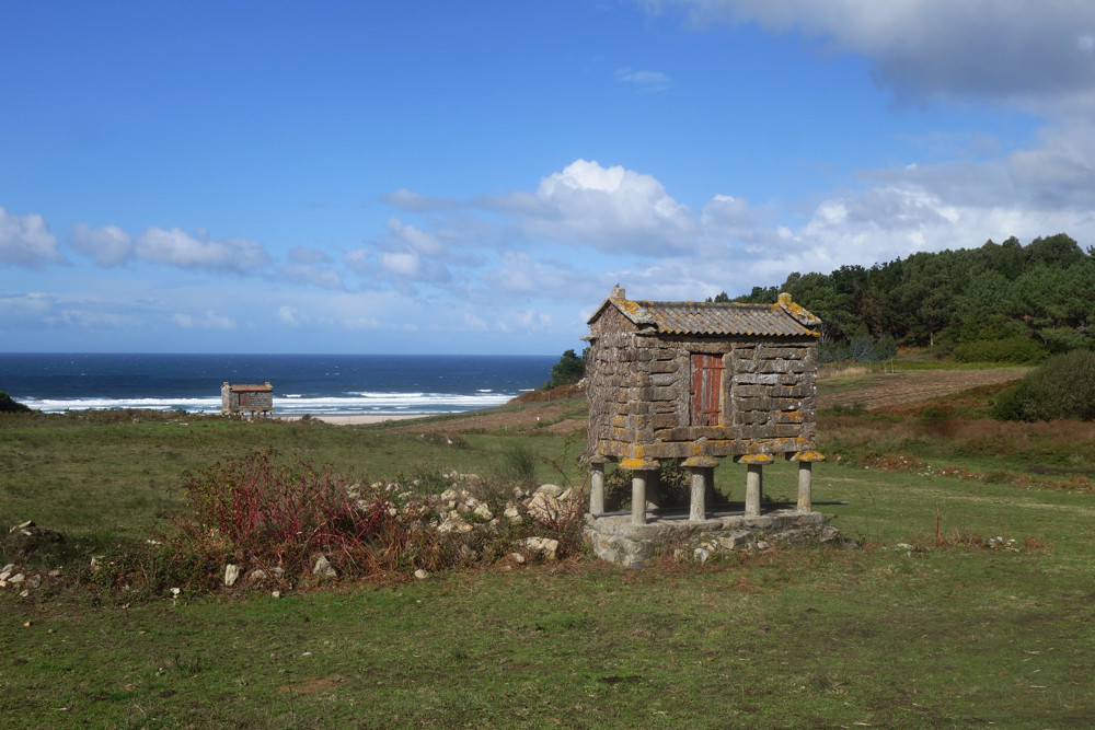 Horreos near Lires on the way to Muxía in Galicia