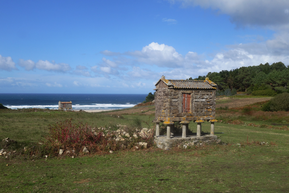 Horreos near Lires on the way to Muxía in Galicia