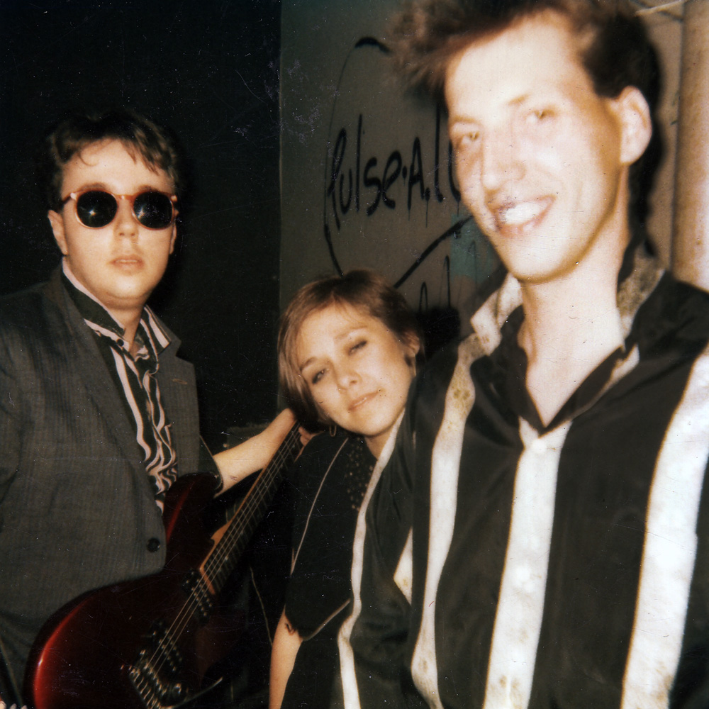 Bob Martin, Peggi Fournier and Bernie Heveron backstage Peppermint Lounge., NYC