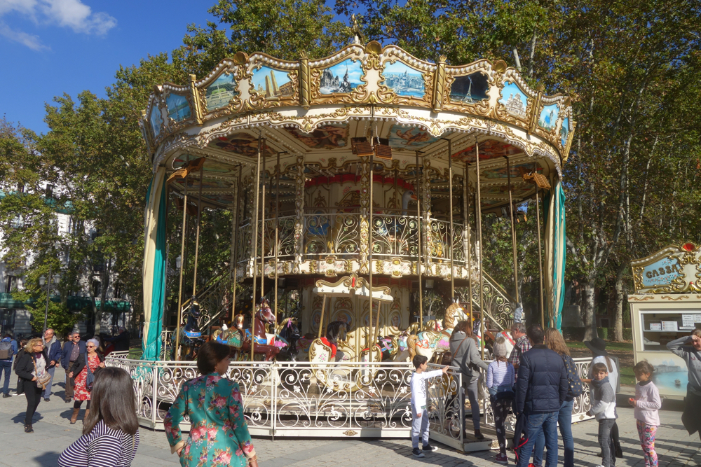 Carousel near the Royal Palace in Madrid