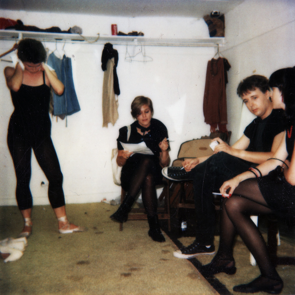 Jeanne Taylor, dancer at This Is It show, backstage with Peggi, Bob and Sheryl.