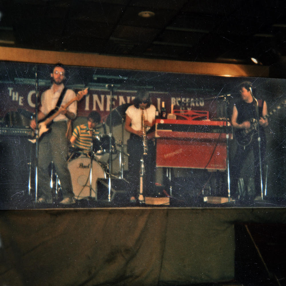 Personal Effects playing the Continental in Buffalo, New York. Martin Edic, Paul Dodd, Peggi Fournier and Bob Martin.