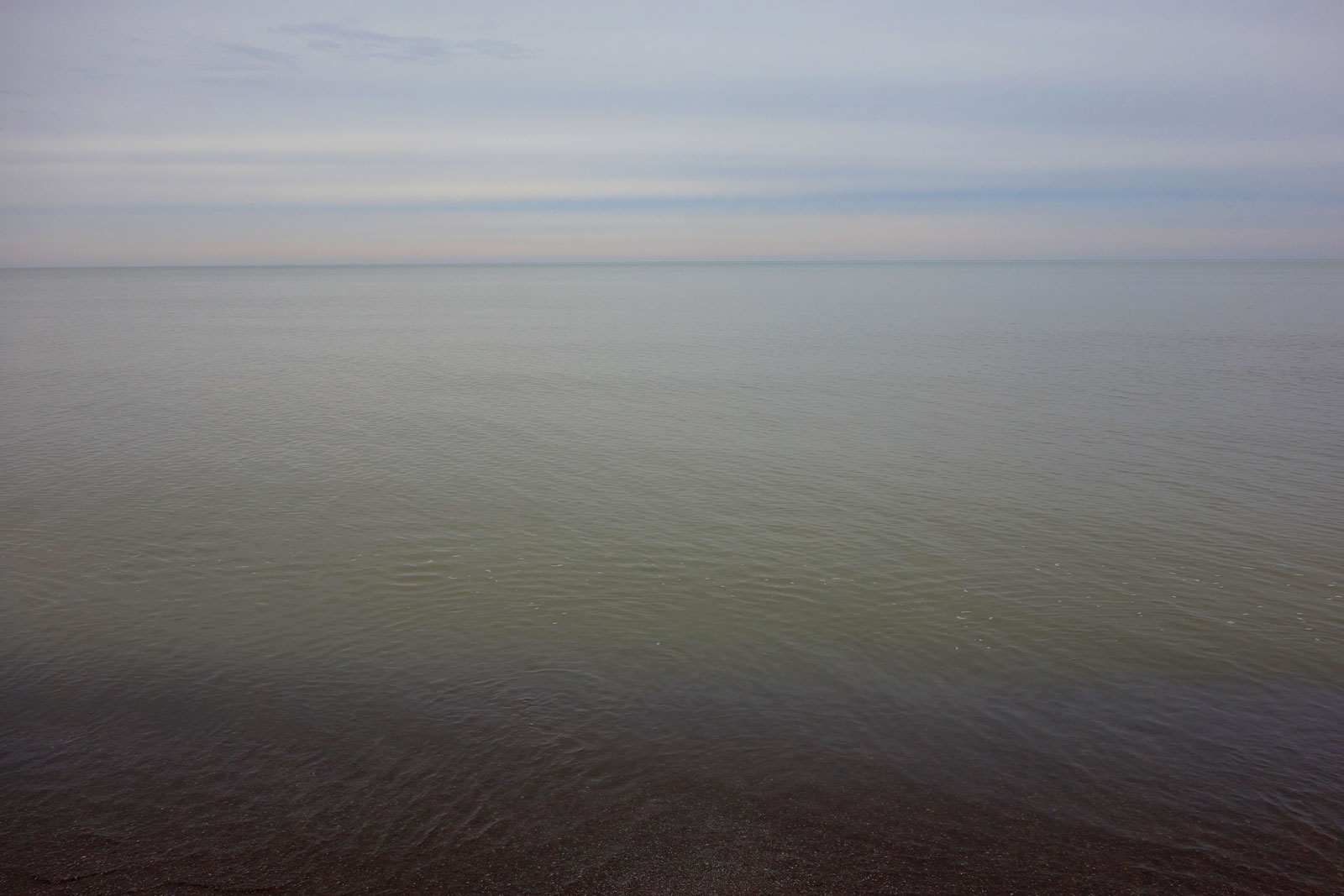 Lake Ontario at Durand Eastman Beach on New Year's Eve 2018