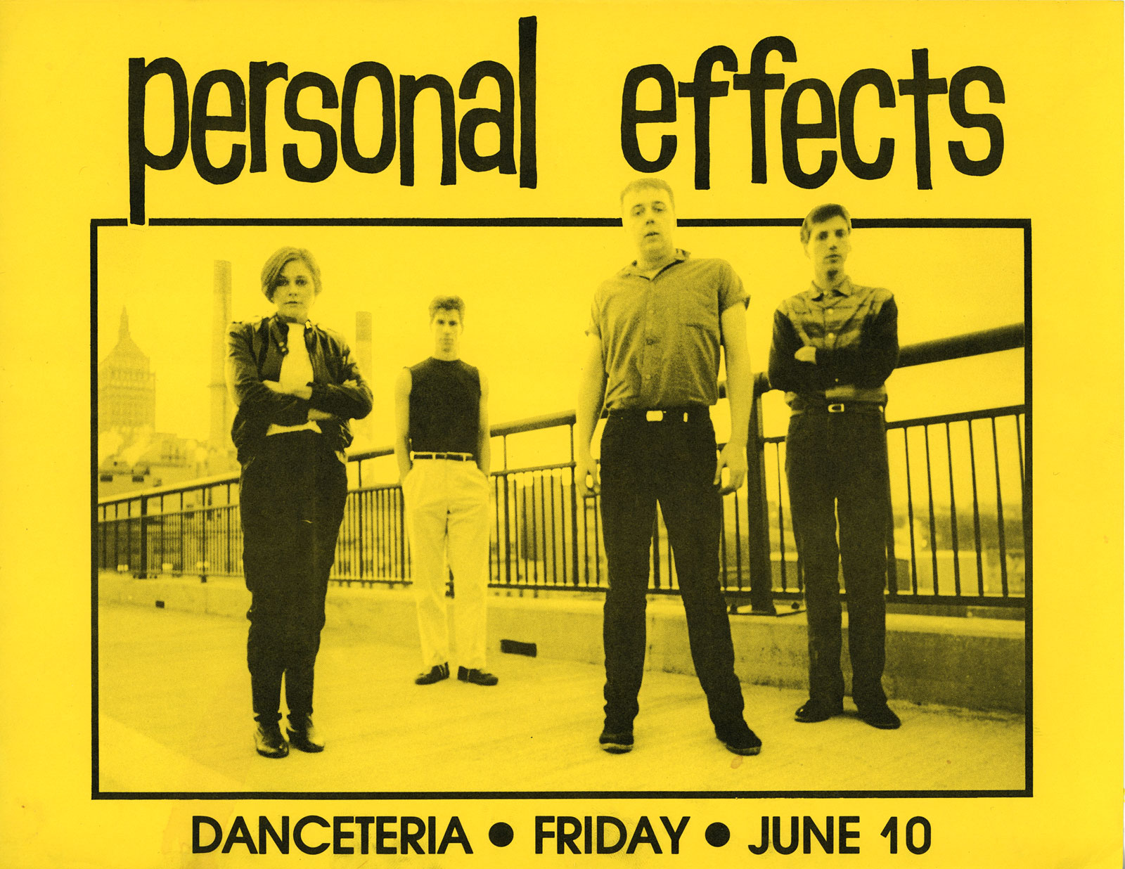 Poster for Personal Effects at Danceteria in New York City 06.10.1983