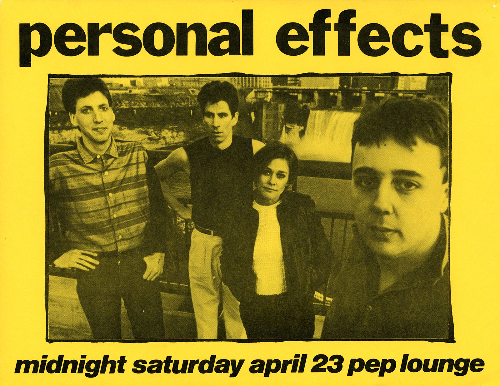 Poster for Personal Effects at Peppermint Lounge in New York City 04.23.1983