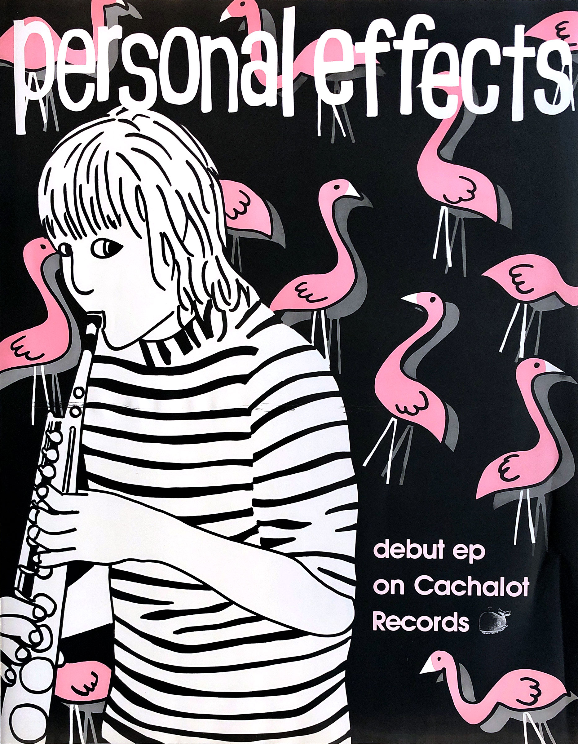 Promotional poster for Personal Effects self-titled debut EP on Cachalot Records