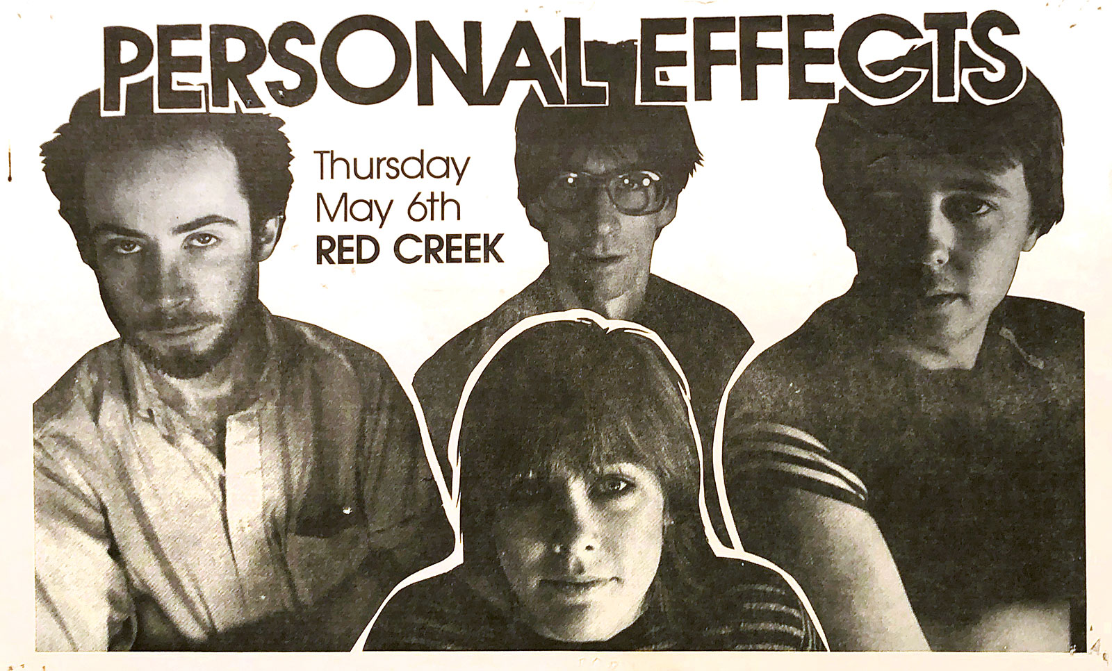 Poster for Personal Effects at Red Creek in Rochester, New York on 04.06.1982