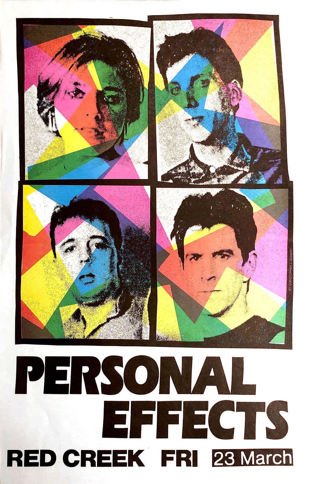 Poster for Personal Effects at Red Creek in Rochester, New York on 05.23.1984