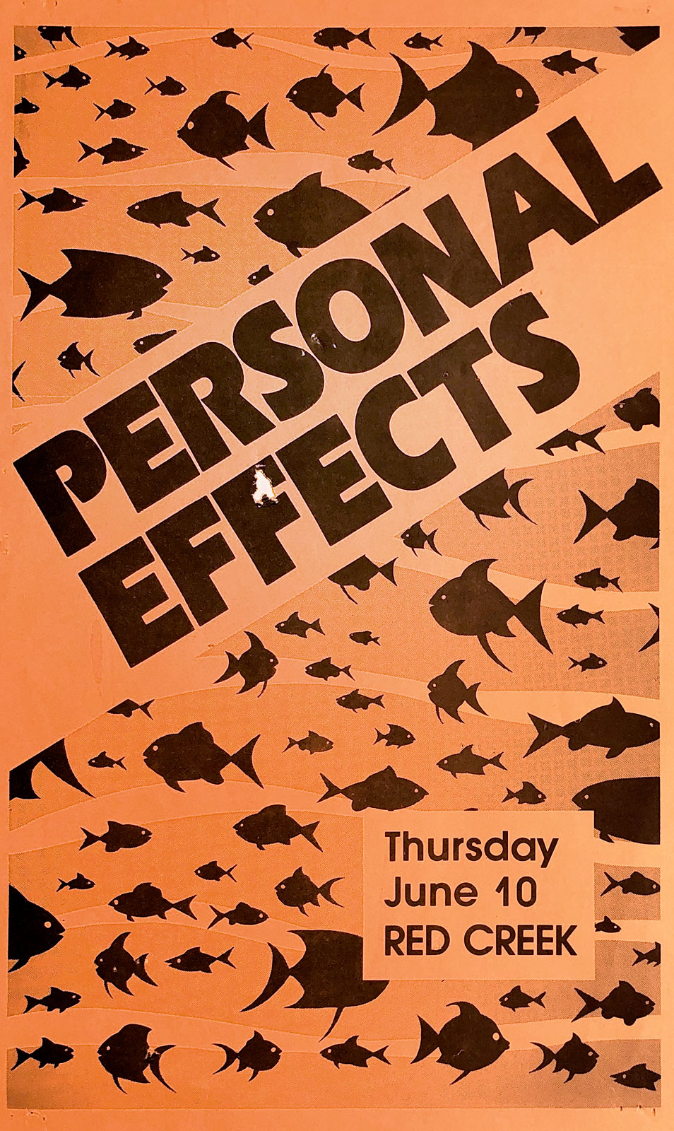 Poster for Personal Effects at Red Creek in Rochester, New York on 06.10.1982