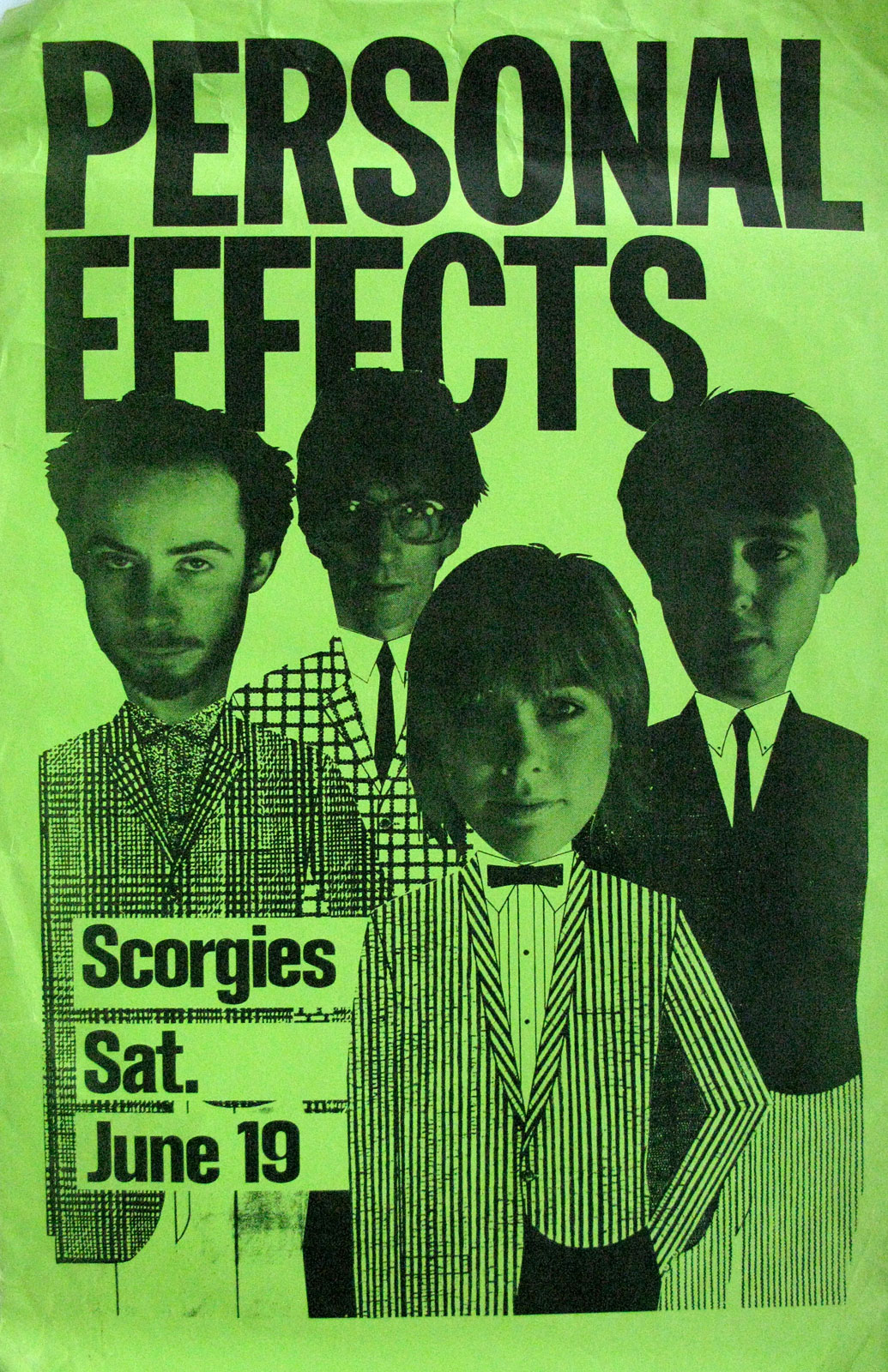 Poster for Personal Effects at Scorgies in Rochester, New York 06.19.1982