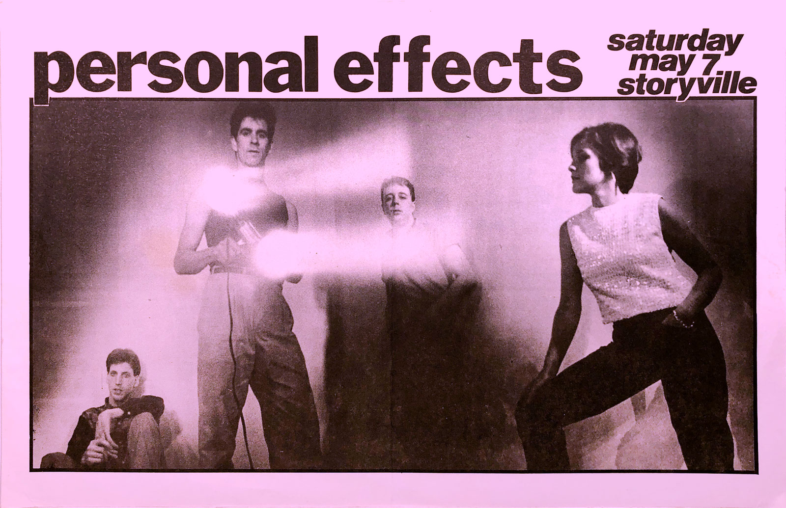 Poster for Personal Effects at Storyville in Boston, Massachusetts on 05.07.1983