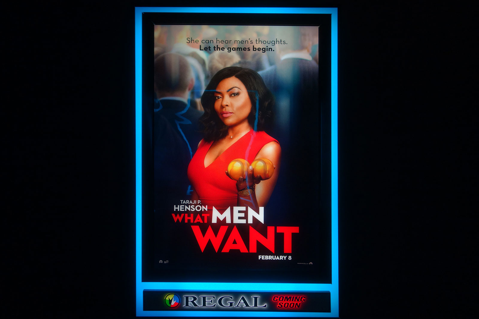 """What Men Want"" poster at Regal in Culver Ridge Plaza"