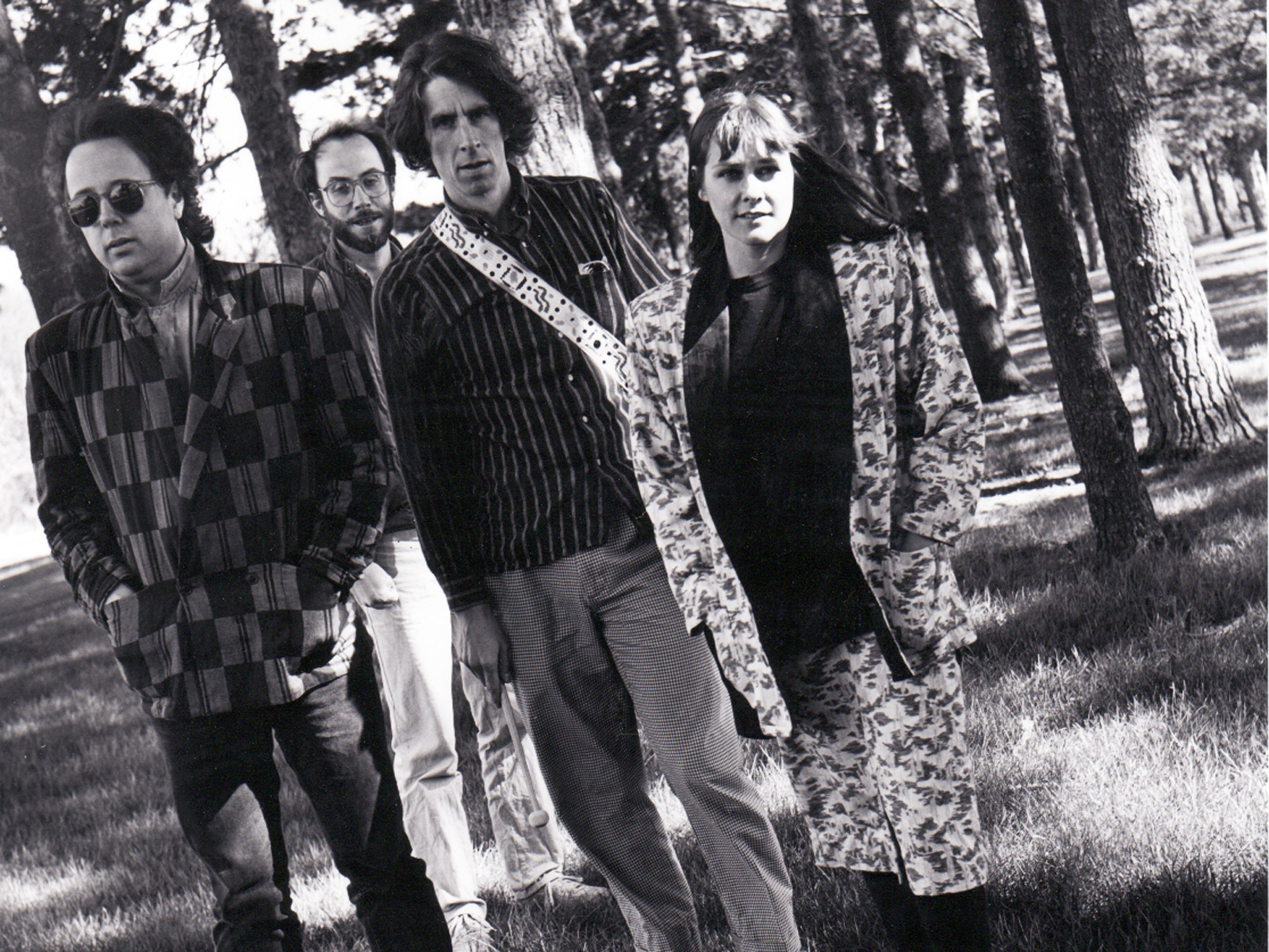 Promo photo for Personal Effects 3 month gig at Planetarium in Rochester, New York 1987. Bob Martin, Martin Edic, Paul Dodd and Peggi Fournier.