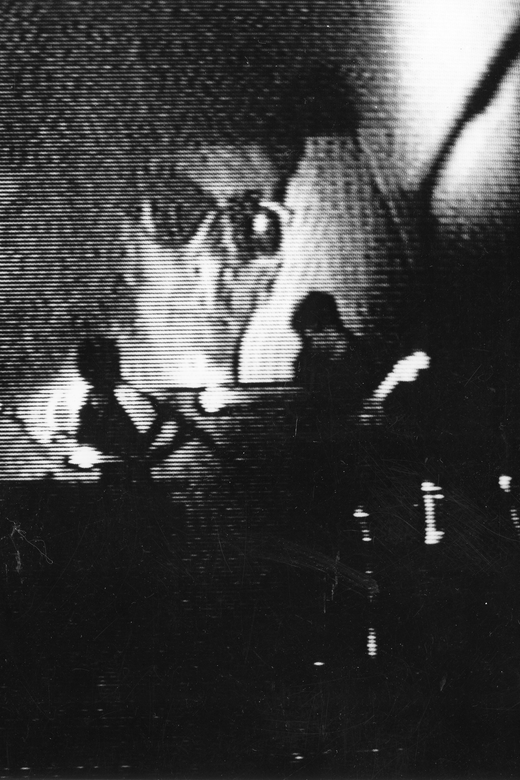 "Personal Effects performing at ""This Is It"" show at Community Playhouse in 1984. Video still by Duane Sherwood."