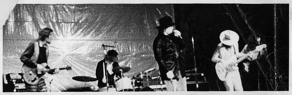 Kim Torgerson photo of Captain Beefheart performing at Ludlow's Garage in Cincinnati, Ohio with Hampton Grease Band and Screaming Gypsy Bandits, November 20 1970