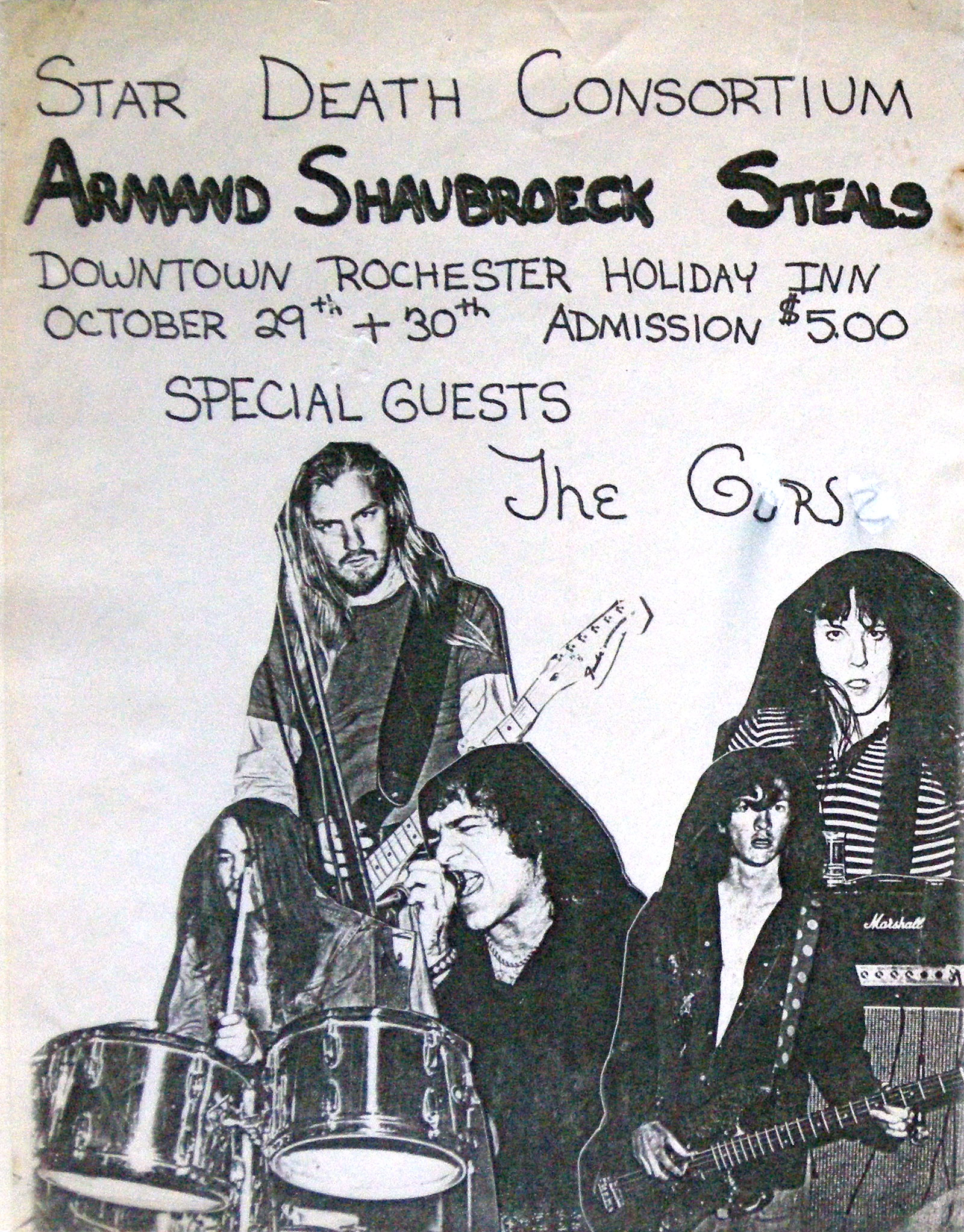 "Armand Shaubroeck Steals ""Star Death Consortium"" at Holiday Inn in downtown Rochester, New York October 29 and 30, 1976"
