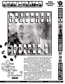 Issue 17 The Refrigerator - 1990s Print Zine/Broadsheet from Rochester, New York