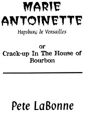 Marie Antonette title page