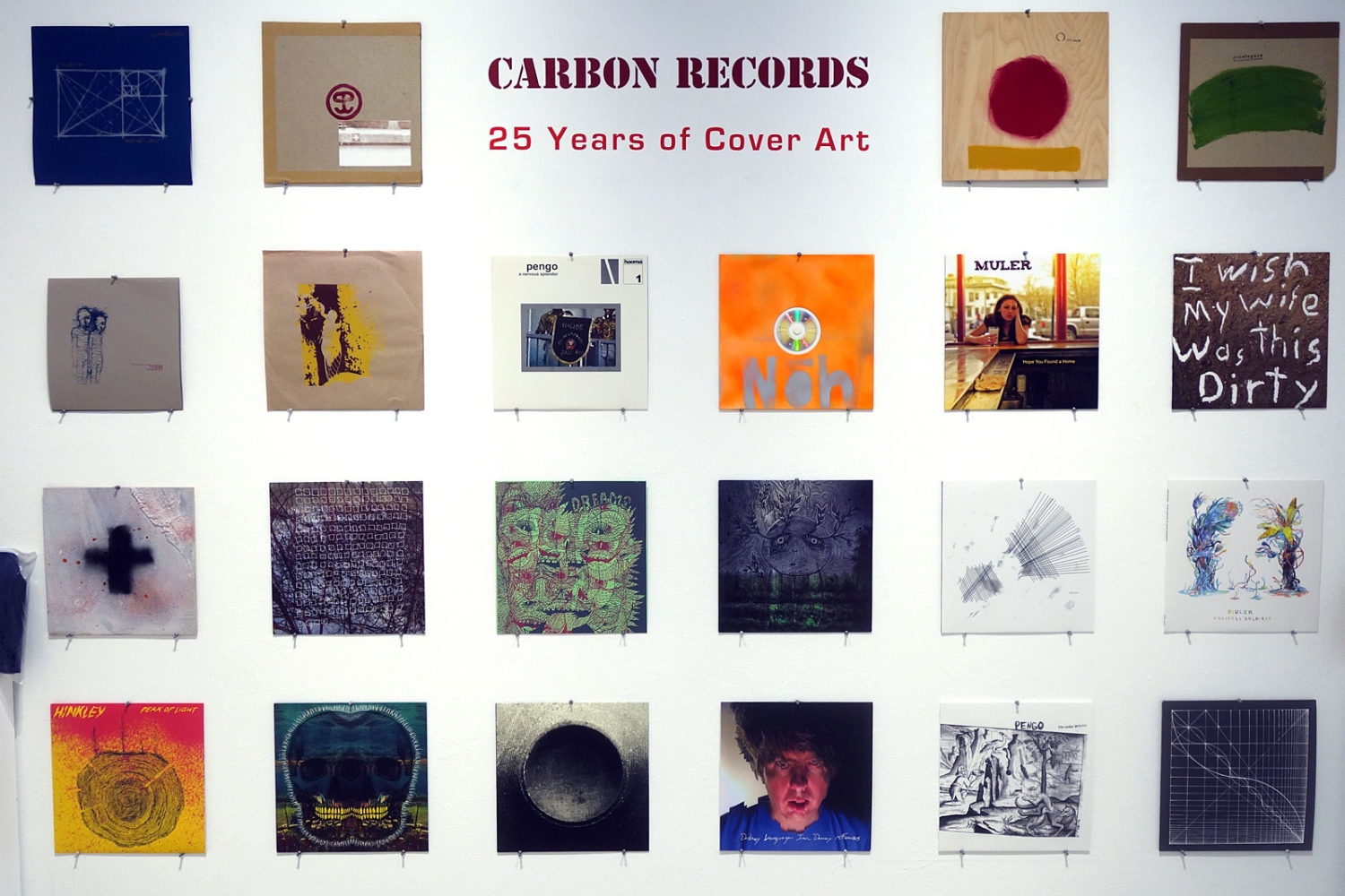 Joe Tunis artwork in Carbon Records: 25 Years of Cover Art at Rochester Contemporary in Rochester, New York