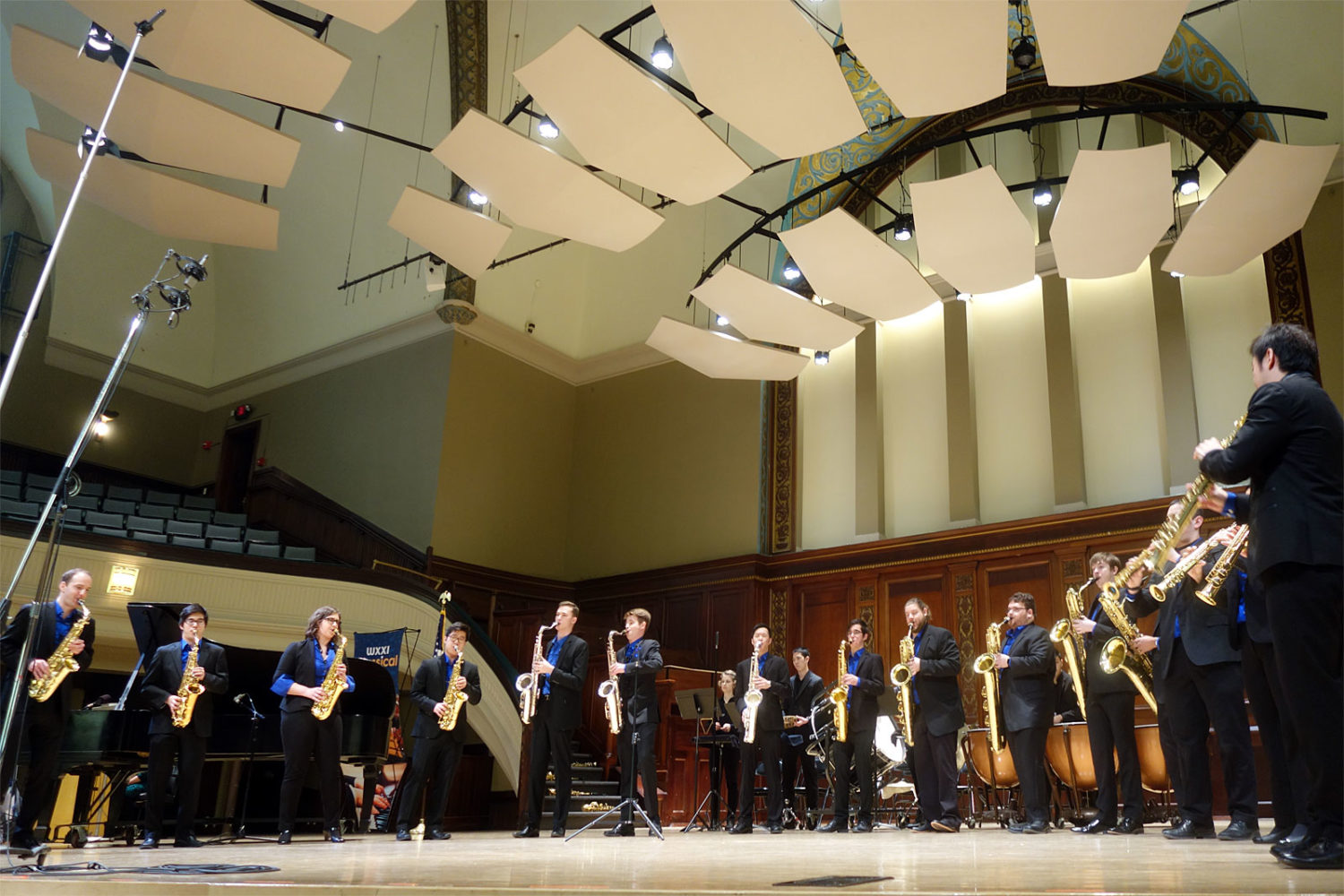 Eastman Saxophone Project performing at Hochstein School of Music