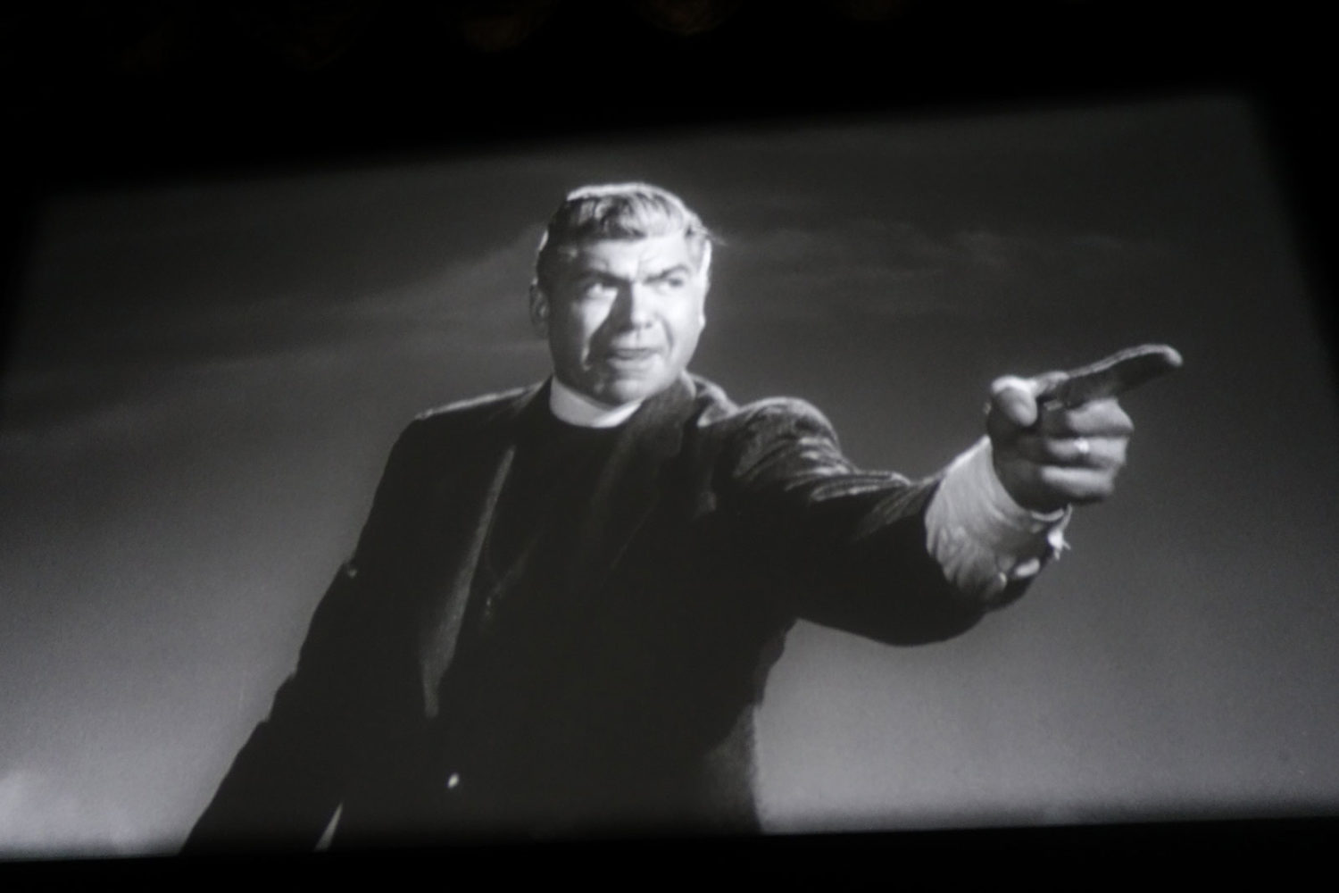Claude Akins as Christian Fundamentalist preacher in Inherit The Wind