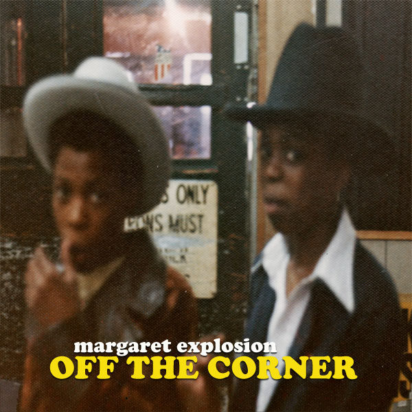 """Off The Corner"" by Margaret Explosion. Recorded live at the Little Theatre Café on 11.13.13. Peggi Fournier - sax, Ken Frank - bass, Jack Schaefer - bass clarinet, Bob Martin - guitar, Paul Dodd - drums."