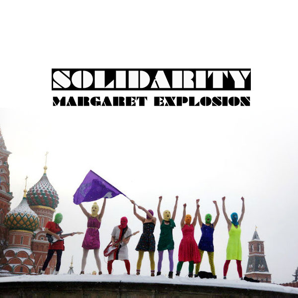 """Solidarity"" by Margaret Explosion. Recorded live at the Little Theatre Café on 12.18.13. Peggi Fournier - sax, Ken Frank - bass, Jack Schaefer - bass clarinet, Bob Martin - guitar, Paul Dodd - drums."
