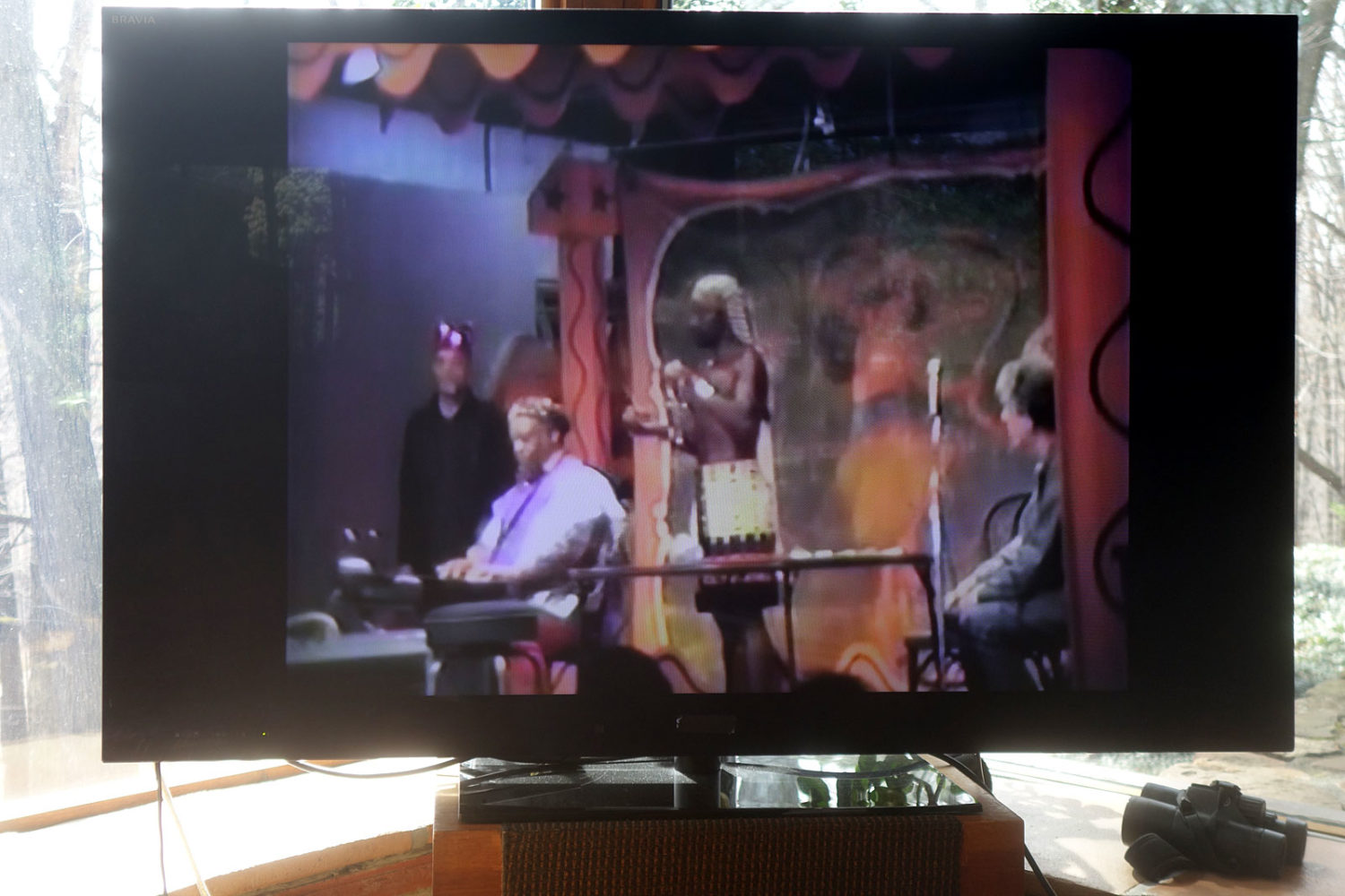 Sun Ra Meets John Cage dvd playing on our tv on Record Store Day 2019