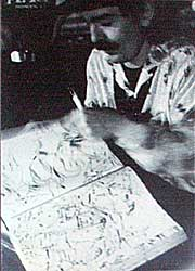 Captain Beefheart drawing at Red Creek in Rochester, New York in 1977