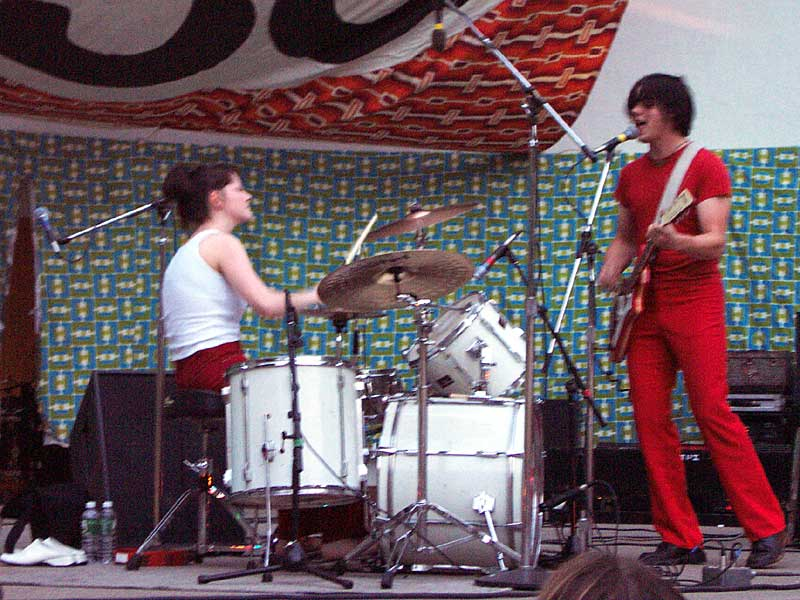 White Stripes - 10th Annual Bug Jar Fest,Highland Bowl August 12, 2001, Rochester, New York.