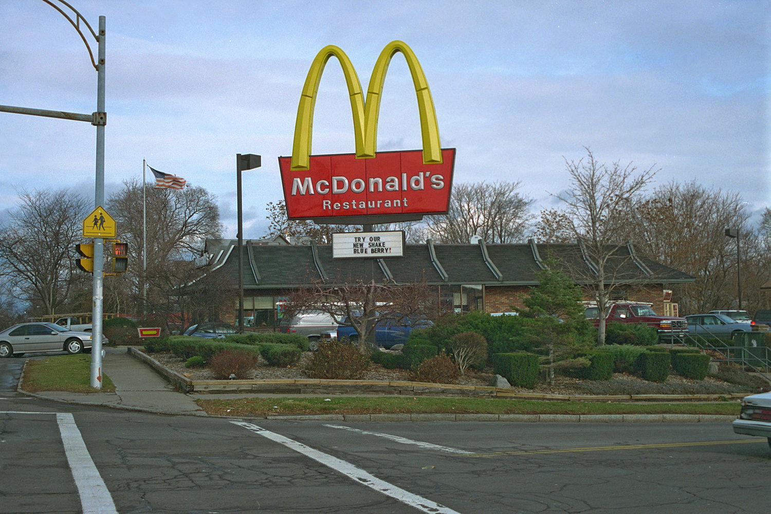 "04. McDonalds, East Main Street, Rochester. Source photo for Paul Dodd ""Passion Play"" 1999."