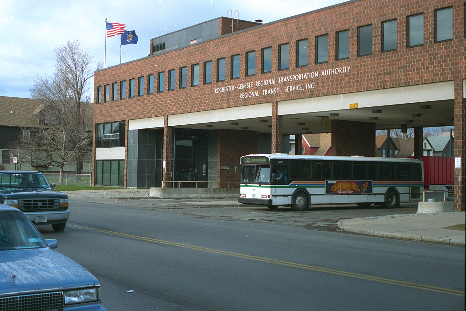 "09. Regional Transit Bus Terminal, East Main Street, Rochester. Source photo for Paul Dodd ""Passion Play"" 1999."